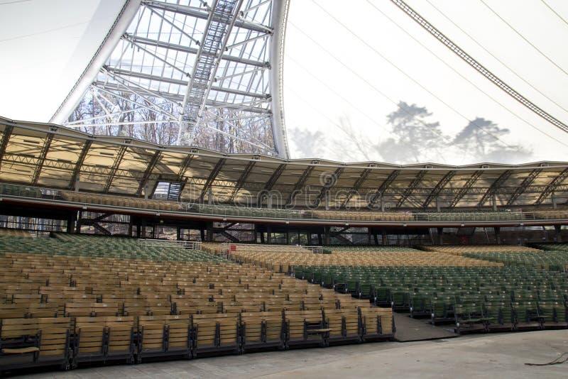 Forest Opera, Polônia, Sopot 2017 fotografia de stock