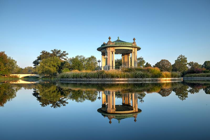 Forest Park bandstand in St. Louis, Missouri.  stock photos