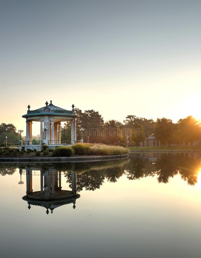 Forest Park bandstand in St. Louis, Missouri.  stock images