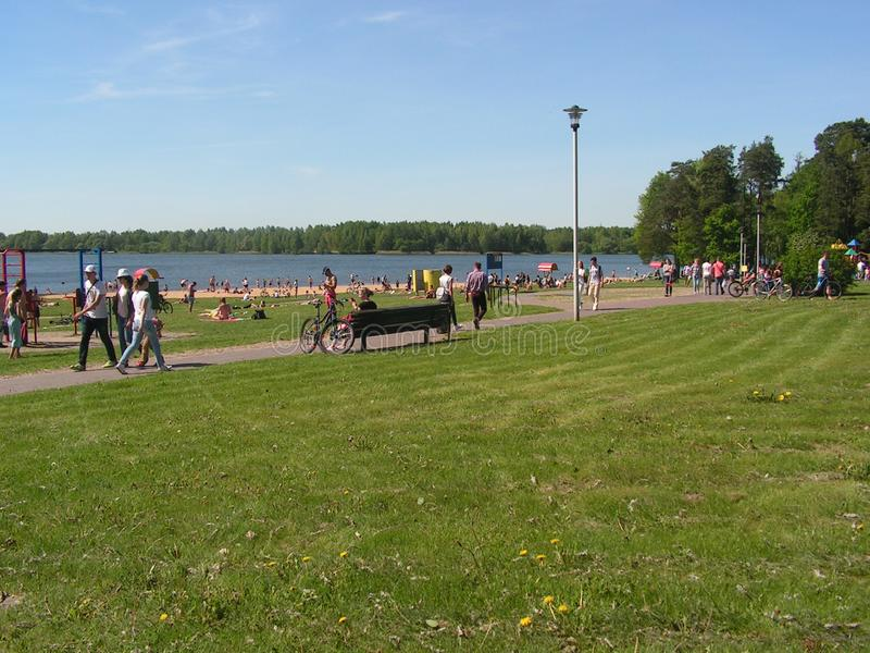 Forest Park `DROZDY` in Minsk Belarus royalty free stock photos