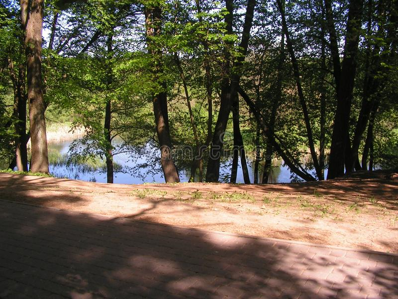 3 Forest Park ?DROZDY ?in Minsk Wei?russland stockbild