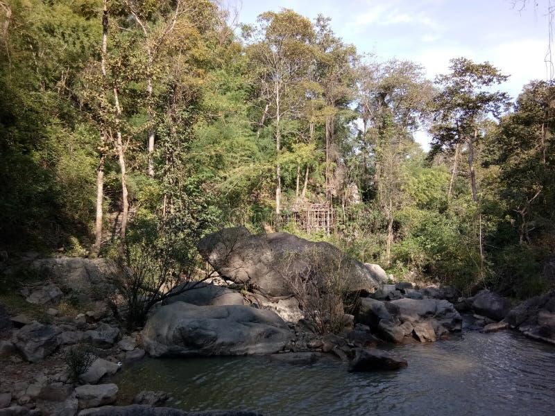 Forest Park ingång arkivfoton