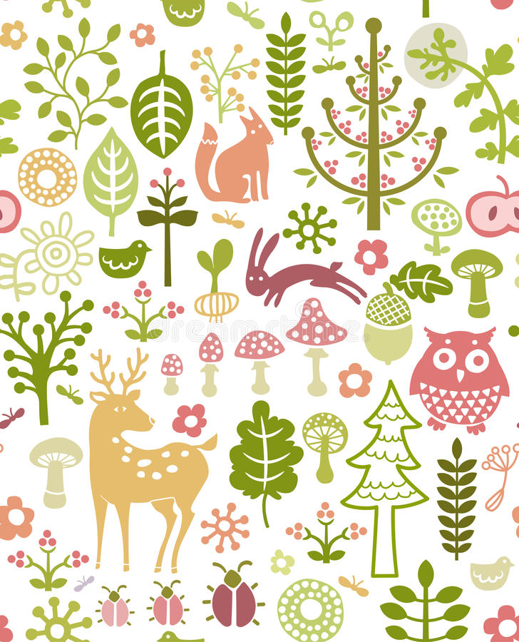 Forest pattern stock illustration