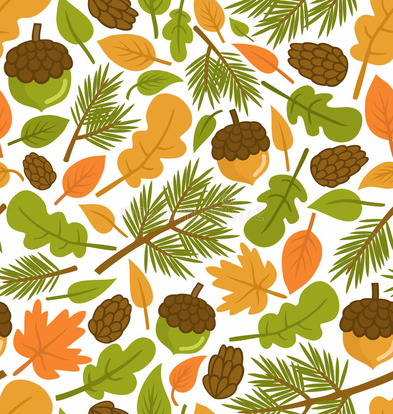 Forest pattern royalty free illustration