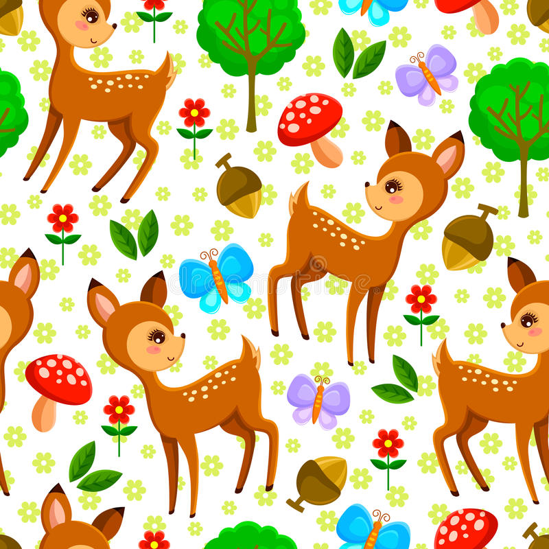 Forest pattern vector illustration