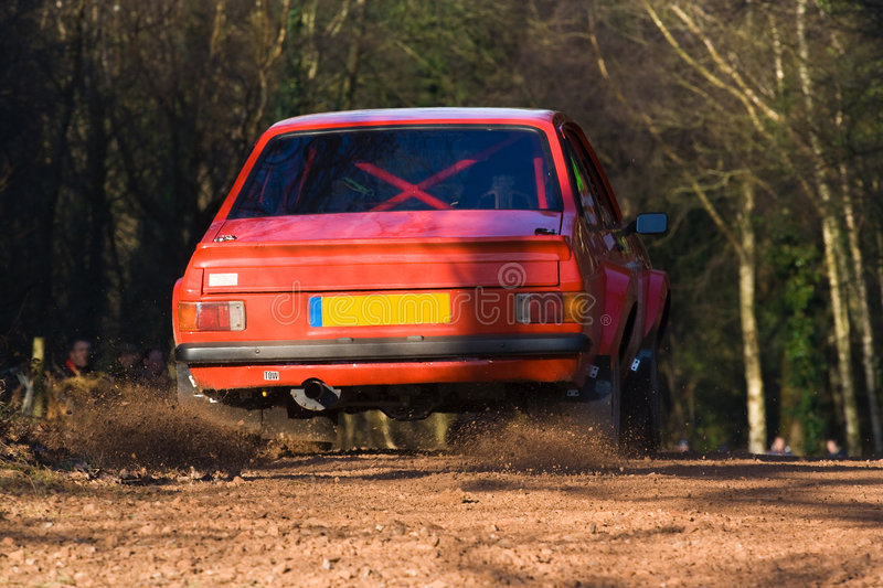 Download Forest Rally Stage Stock Photo - Image: 5936600
