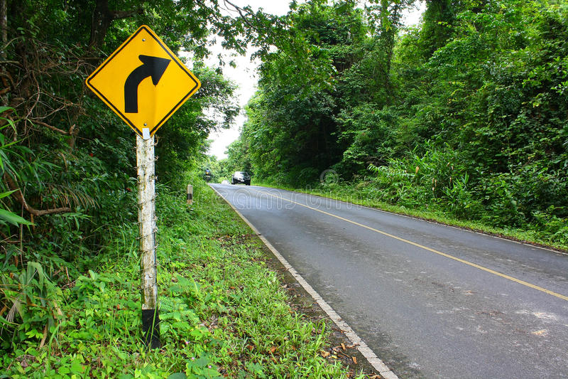 Forest Road, Thailand lizenzfreie stockfotografie