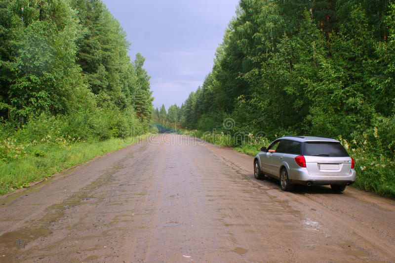 Download On the forest roads stock photo. Image of trip, rainbow - 20361000