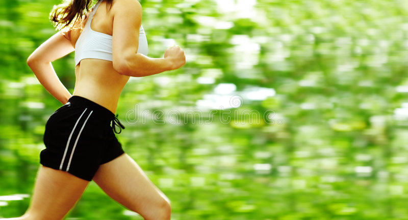 Forest Runner royalty free stock photo