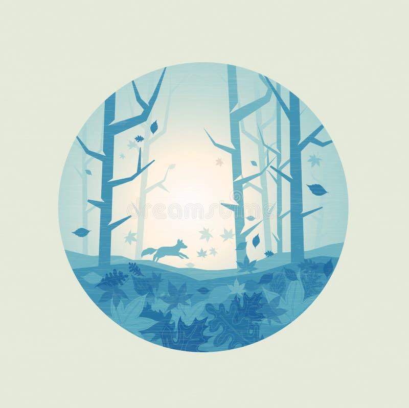 Forest Scenic fresco ilustração royalty free
