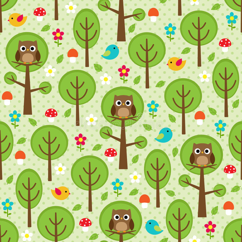 Download Forest seamless stock vector. Image of backdrop, bird - 24903542