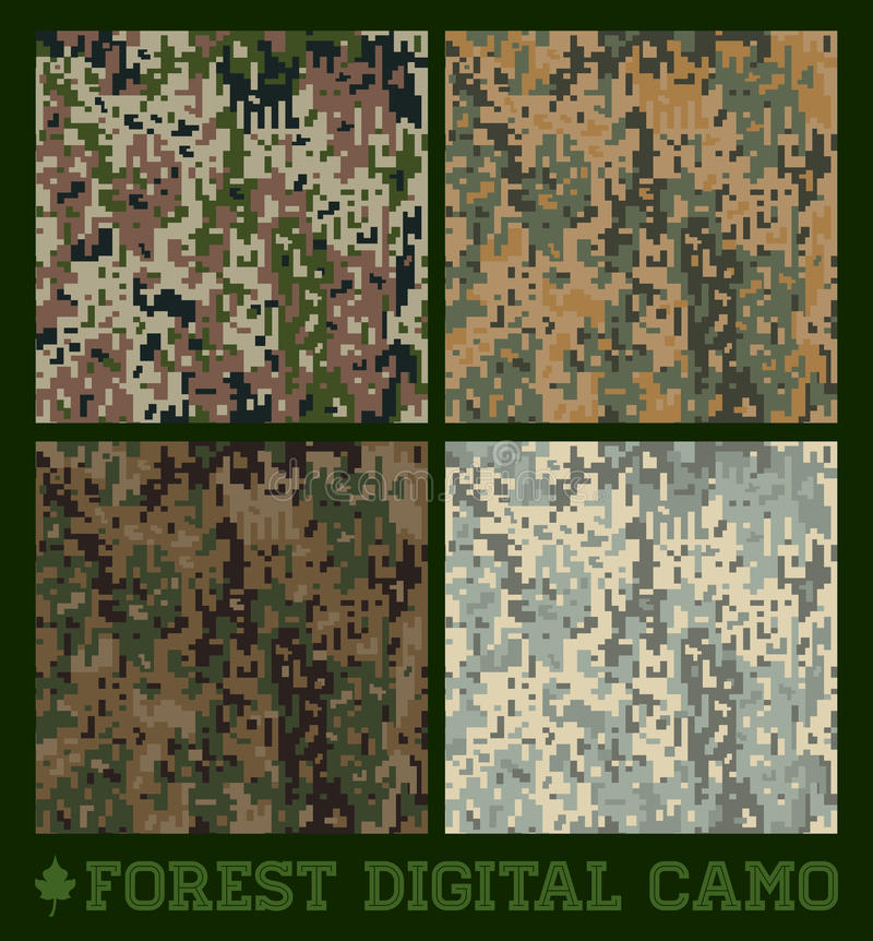Free Forest - Seamless Vector Digital Camo Royalty Free Stock Photo - 39334645