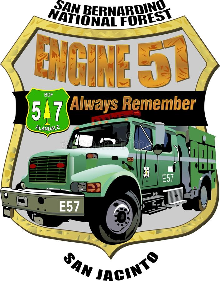 Download Forest Service Engine 57 Memorial Decal Editorial Photo - Image: 23778041