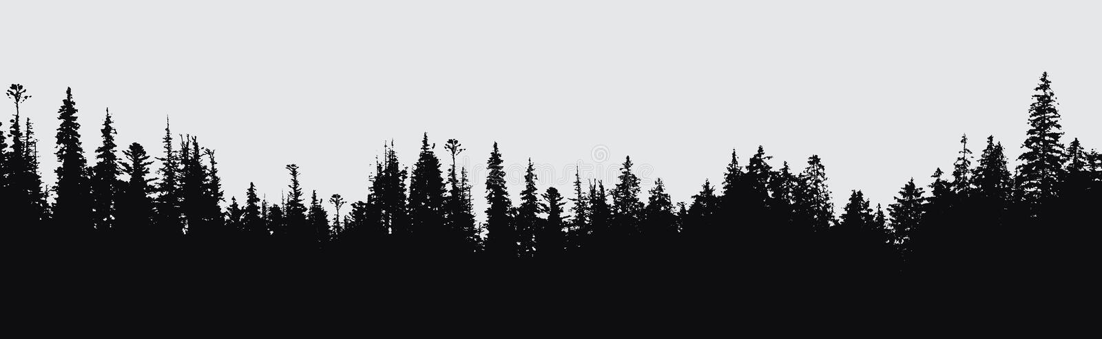 Forest silhouette background. vector illustration
