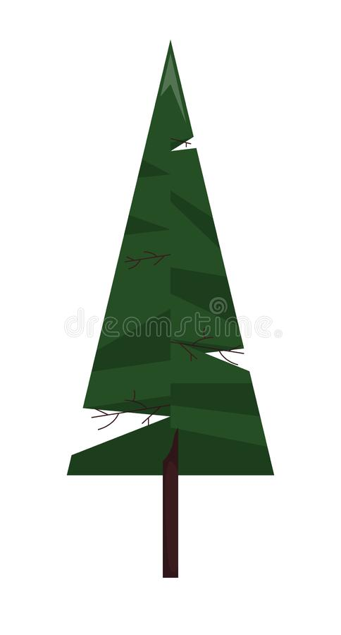 Forest spruce. single icon in flat style. stock photography