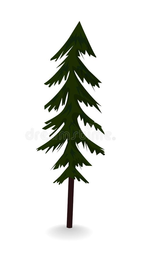 Forest spruce. single icon in flat style. stock image