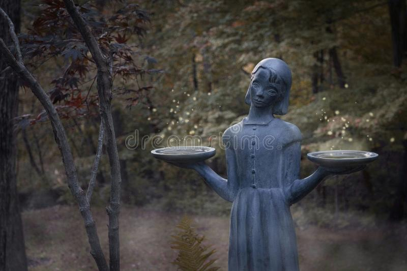 forest statue stock images