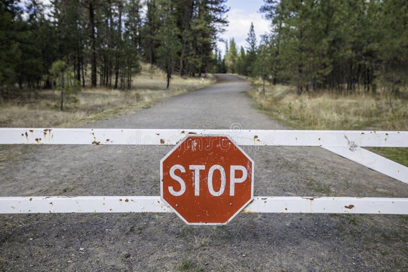 Forest Stop Sign fotografia stock