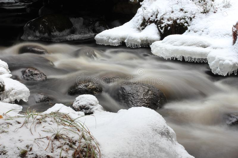 A stream in Winter stock images