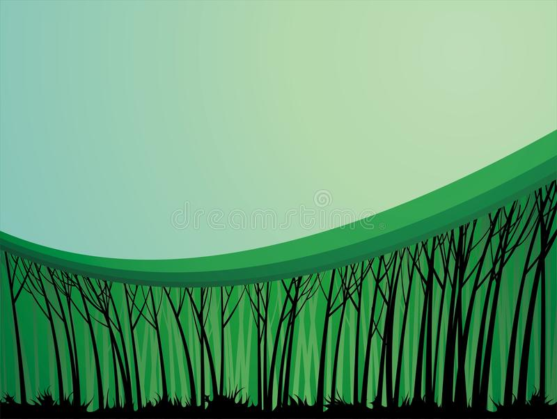 Forest theme background. With a spot to place your text royalty free illustration
