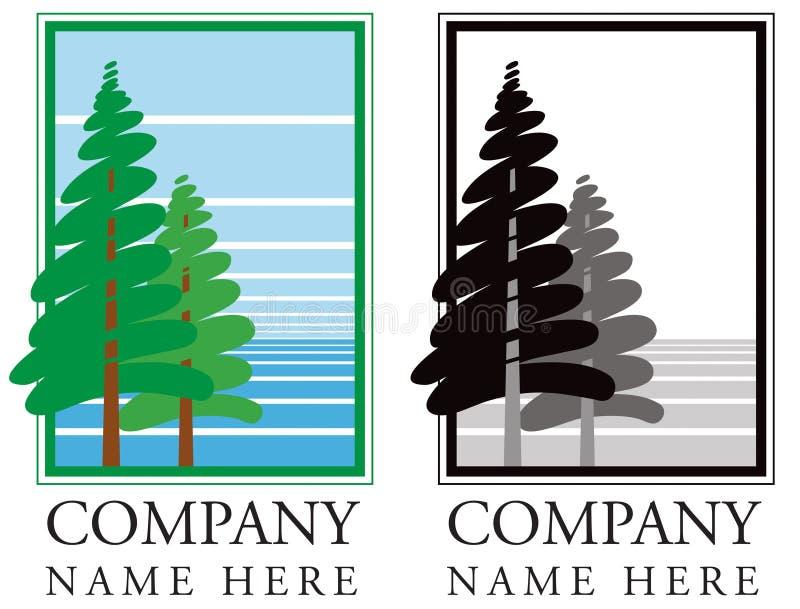 Forest Tree Logo ilustração royalty free