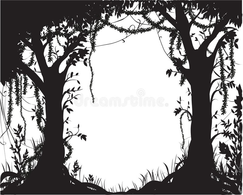 Forest tree tropic stock illustration