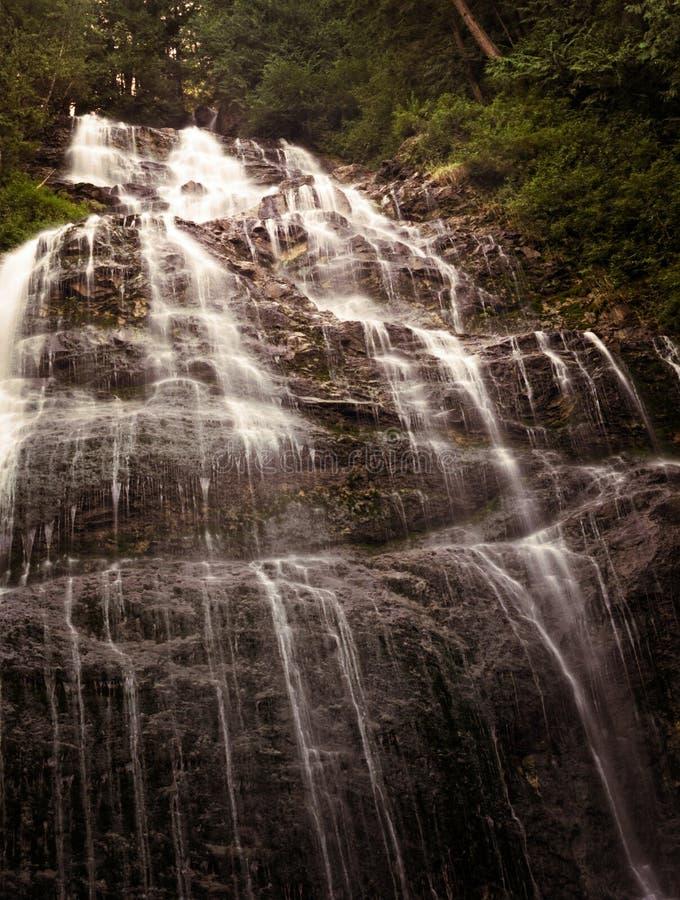 Long Cascading Mountain Waterfall stock photos