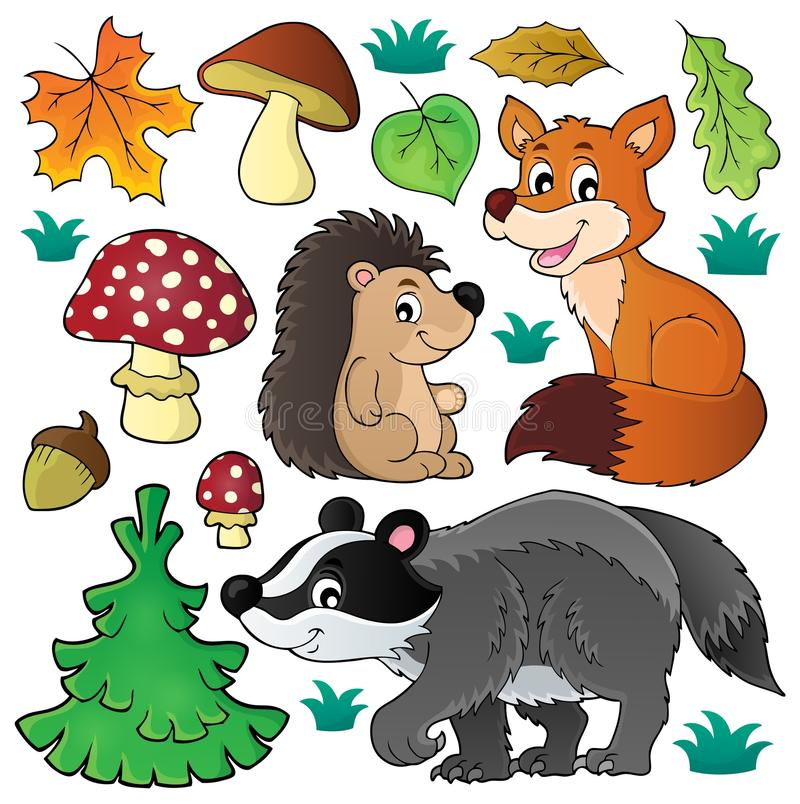 Free Forest Wildlife Theme Set 1 Stock Image - 77143041