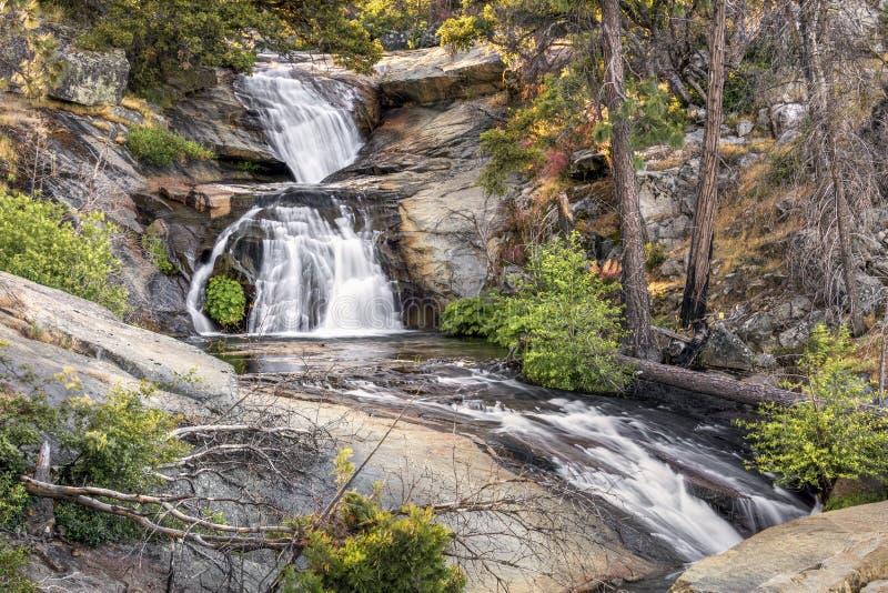 Foresta cai cascatas - parque nacional de Yosemite, Califórnia, EUA imagens de stock royalty free
