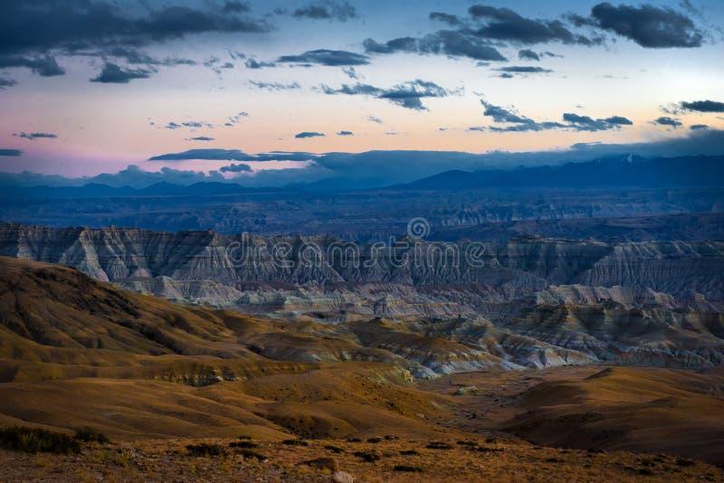 Foresta del suolo di Zhada e rovine del regno di Guge fotografia stock libera da diritti