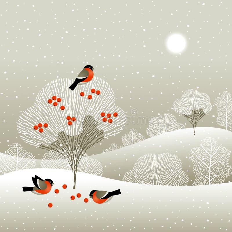 Foresta di inverno illustrazione di stock