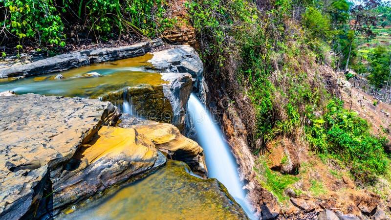 Foresta di Sodong nella sua gloria completa a Sukabumi, Indonesia immagini stock libere da diritti