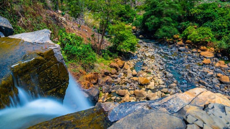 Foresta di Sodong nella sua gloria completa a Sukabumi, Indonesia fotografia stock libera da diritti
