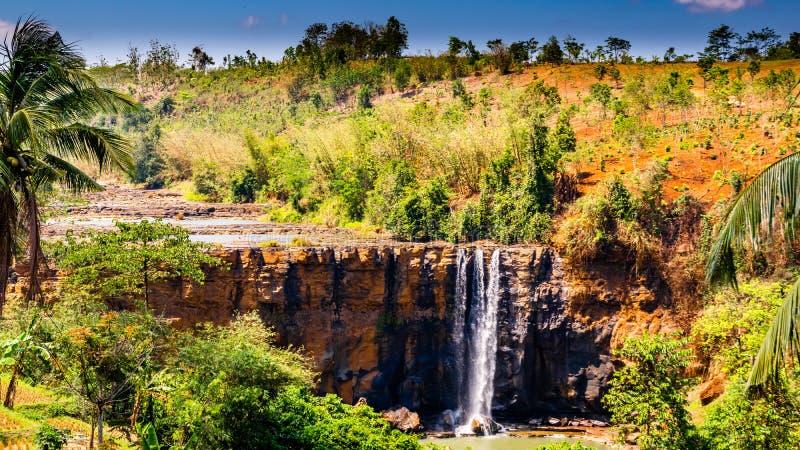 Foresta di Sodong nella sua gloria completa a Sukabumi, Indonesia fotografia stock