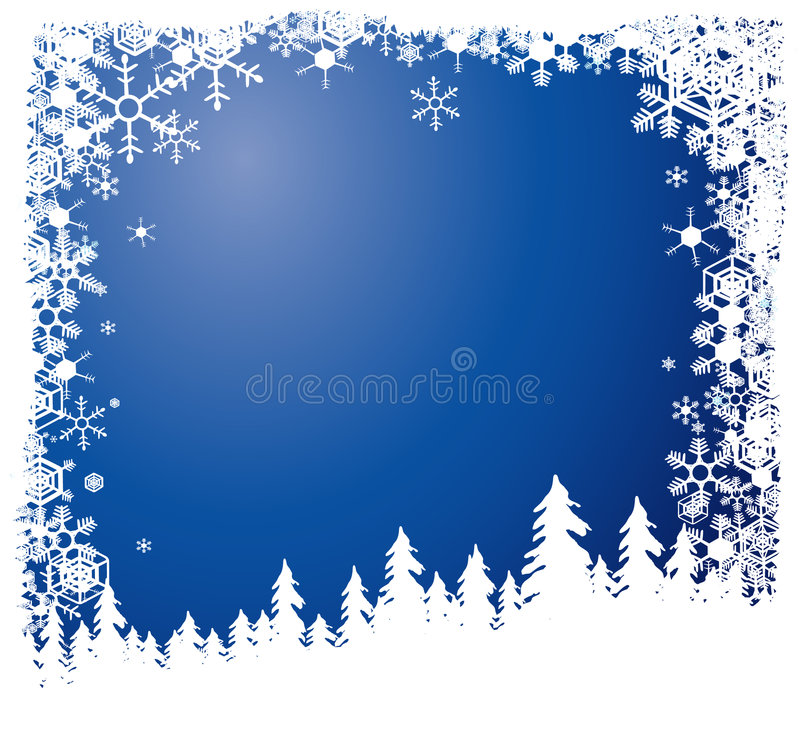 Foresta in inverno illustrazione di stock