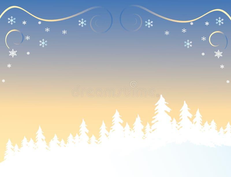 Download Foresta in inverno illustrazione vettoriale. Illustrazione di bianco - 3134806