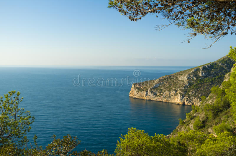 Forested Coast Royalty Free Stock Photography