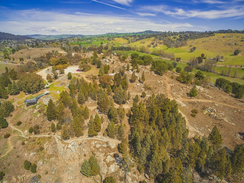 Forested hills in Adelong. royalty free stock image
