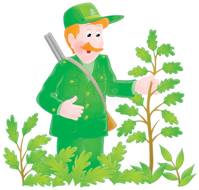 Forestier illustration de vecteur