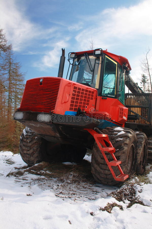 Download Forestry logging truck stock image. Image of crane, mobile - 13104841