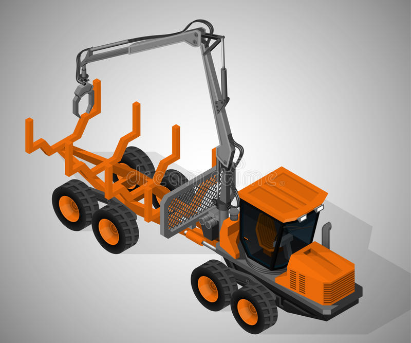 Forestry machinery. vector illustration