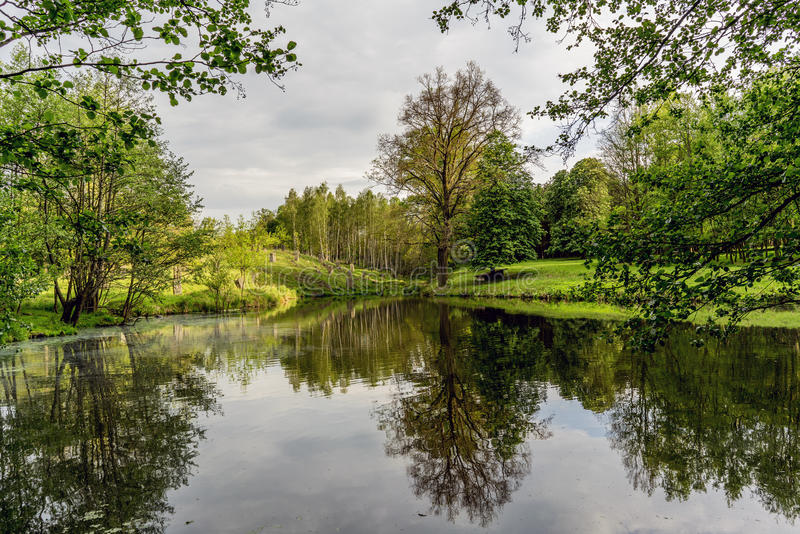Forests hunting ground in the village of Velke mezirici in the. Czech Republic royalty free stock image