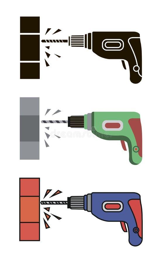 Foret électrique de main illustration stock
