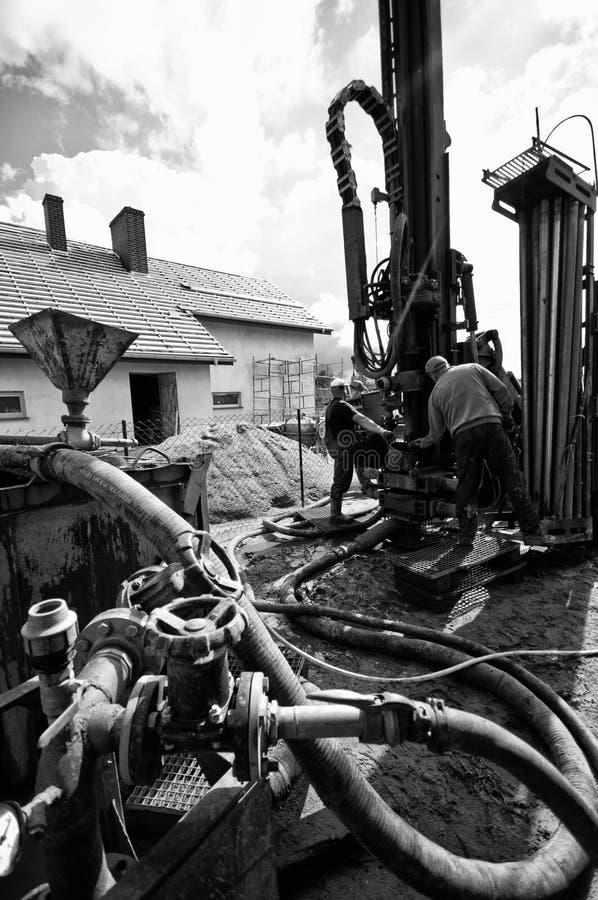 Foreuse géothermique image libre de droits