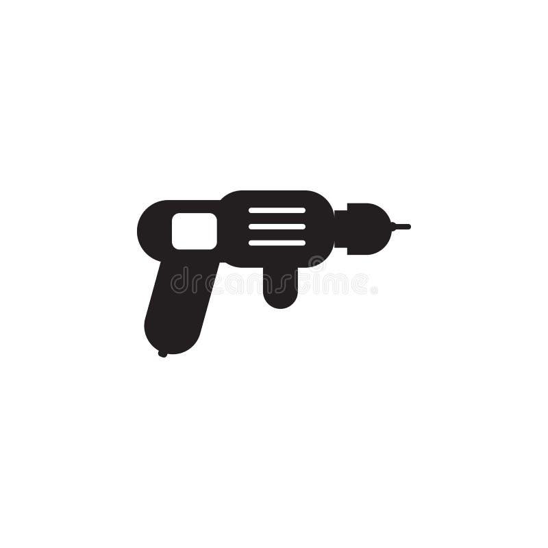 Foreuse - icône de perforateur Les éléments de la construction usine l'icône Conception graphique de qualité de la meilleure qual illustration libre de droits