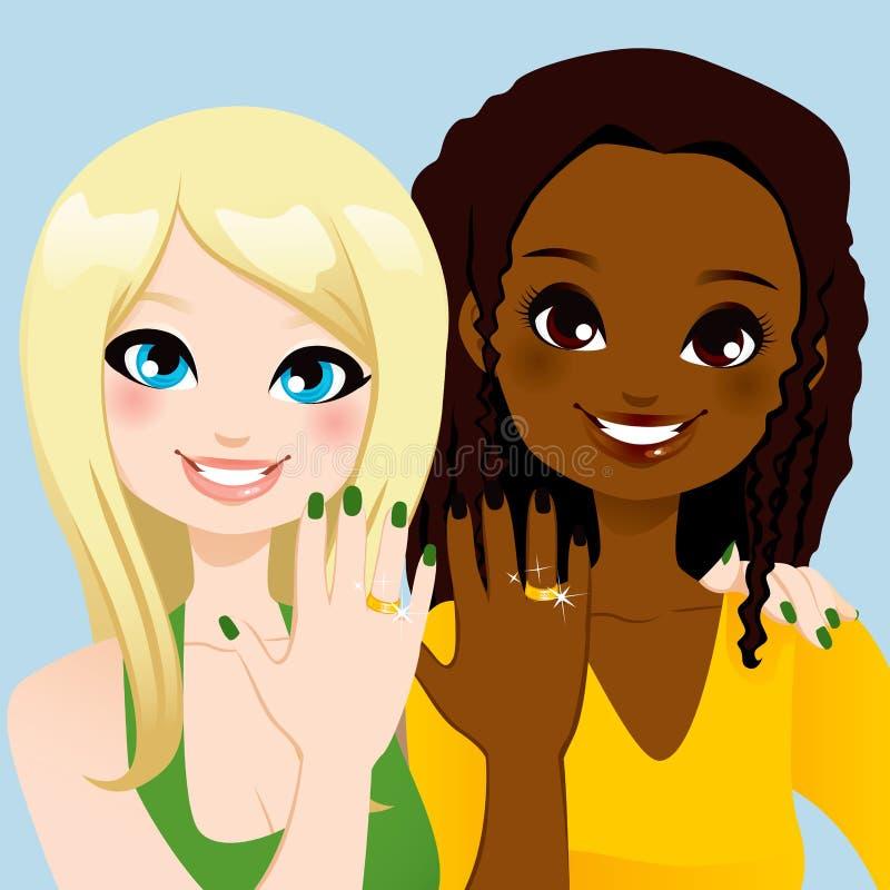 Download Forever Friends Ring stock vector. Image of brunette - 29038607