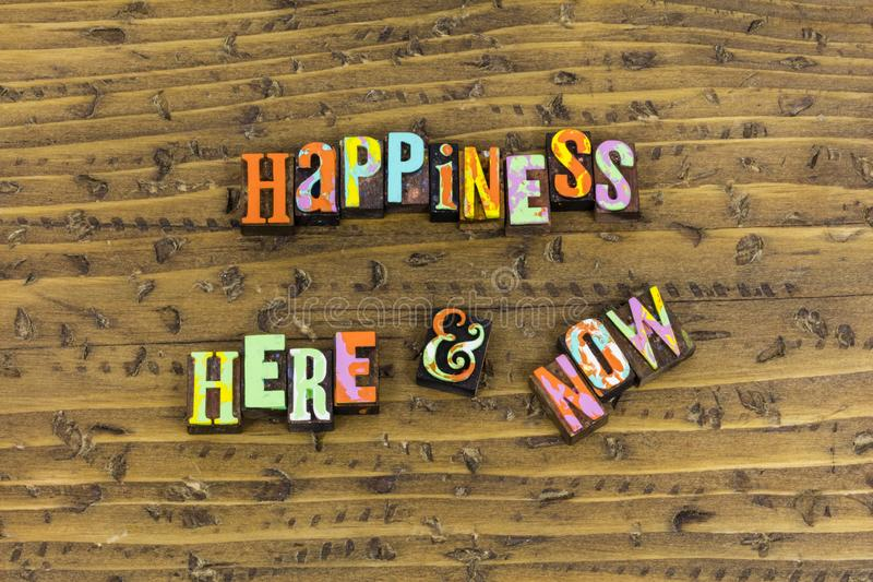 Happiness here now forever royalty free stock photo