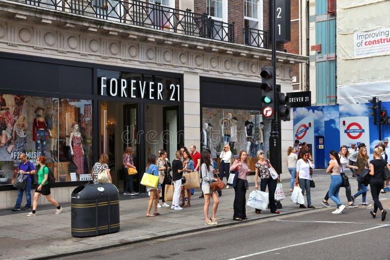 Forever 21 London fotografia stock