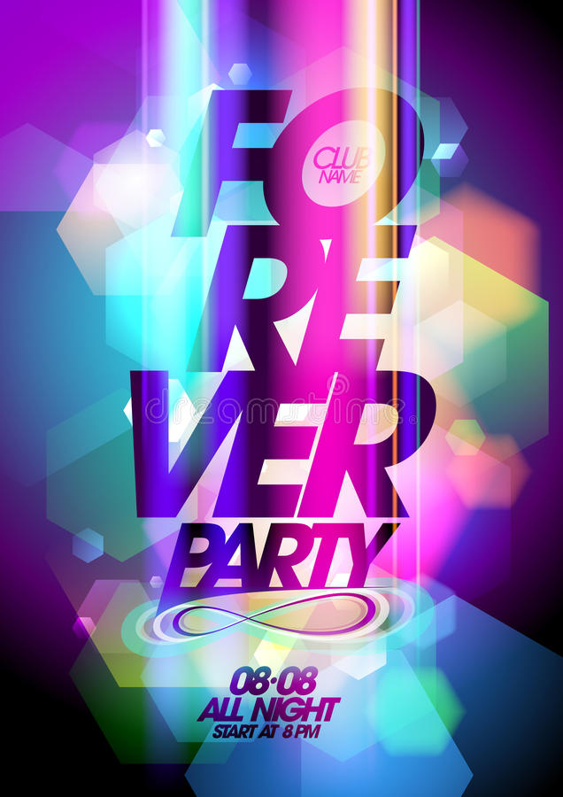 Free Forever Party On A Bokeh Background. Stock Photography - 43172822