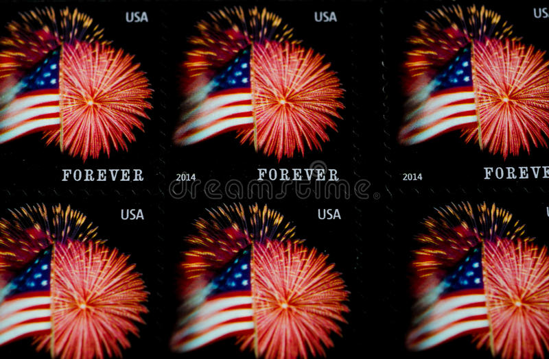 Forever stamps stock photography